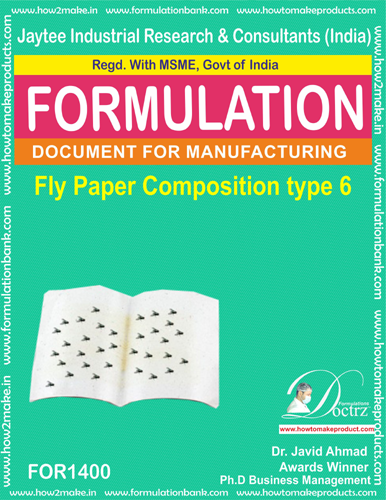 Fly destroyer sticky paper composition type 6 (FOR1400)