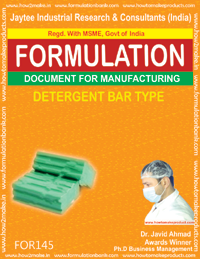 FORMULATION for making detergent bar/cake type