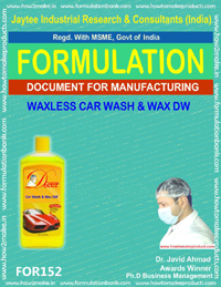 Formula for waxless car wash and wax DW