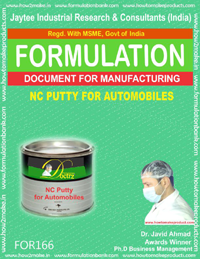 formula for NC putty for automobiles