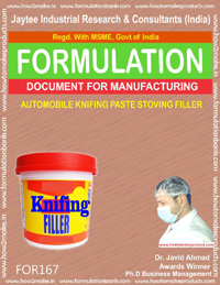 formula for automobile knifing paste stoving filler