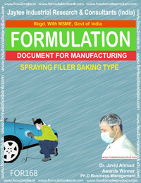 Spraying filler baking type for automobiles