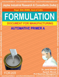 Formula for making automobile primer type A