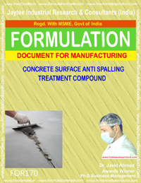 Concrete surface anti spalling treatment compound