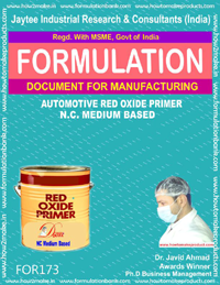 formula for automotive red oxide primer based NC medium