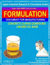 formula for concrete curing compound linseed oil base