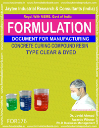 concrete curing compound resin type clear and dried