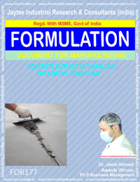 formula document of concrete surface anti spalling anti compound