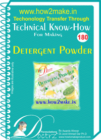 Technical Know-How For Detergent Powder (TNHR180)