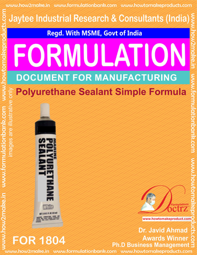Simple Polysulphide Sealant Manufacturing formula (For 1804)