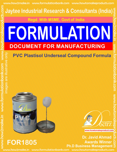 Pvc Plastisol under-sealing compound formula (For 1805)