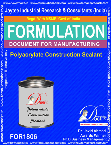 Polyacrylate construction sealant formula (For 1806)