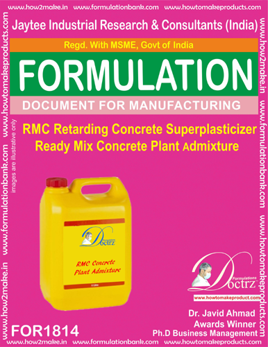 RMC Retarding concrete superplaticizer admixture(FOR1814)