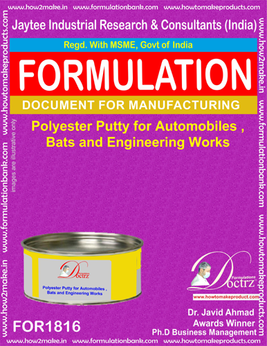 Polyester putty formulations for automobiles(FOR1816)