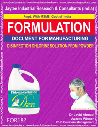 Disinfection chlorine solution form powder