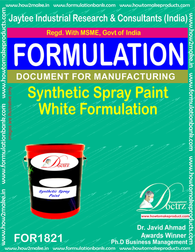 Synthetic spray paint white formulation(FOR1821)