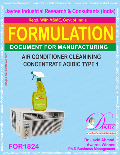 Air Conditioner cleaning concentrate acidic nature1 (FOR 1824)