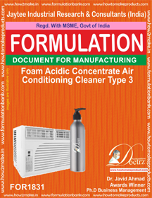 Foaming Acidic AC cleaner concentrate type 3 (FOR 1831)