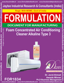 Alkaline foaming AC cleaning concentrate (FOR 1834) type 3