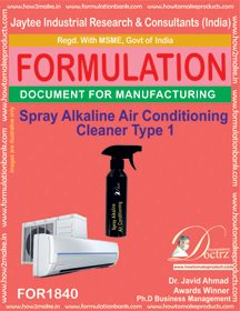 Spray alkaline air conditioner cleaner type 1 (FOR 1840)