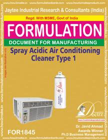 Air conditioner cleaner acidic spray type 1 (FOR 1845)