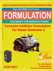 Corrosion inhibitor for steam Generator 2( FOR 1862)