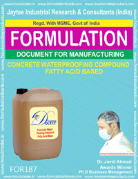 Concrete water proofing compound fatty acid base
