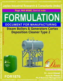 Steam boilers and generators cortex deposition cleaner 2 FOR1876