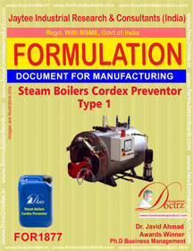 Steam boilers and generators cortex deposition cleaner 3 FOR1877
