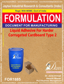 Liquid Adhesive for harder corrugated cardboard 2 (FOR1885)