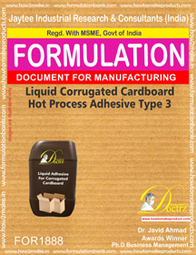 Liquid Adhesive for hot process corrugated cardboard 3 (FOR1888)