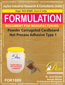 Powder Adhesive for hot process corrugated cardboard 1(FOR1889)