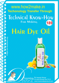 Technical Know-How For Hair Dye Oil (TNHR189)