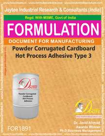 Powder Adhesive for hot process corrugated cardboard 3(FOR1891)