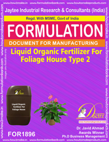 Liquid organic fertilizer for foliage house type 2 (FOR1896)
