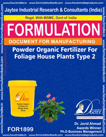 Powder organic fertilizer for foliage house type 2(FOR1899)