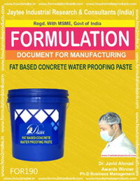 Fat based concrete water proofing paste