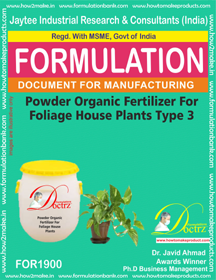 Powder organic fertilizer for foliage house type 3 (FOR1900)