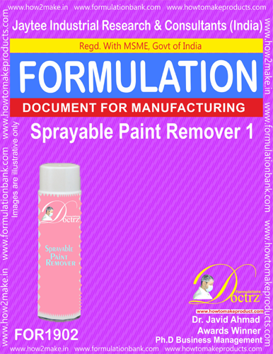 Sprayable Paint Remover 1 formulation (FOR1902)