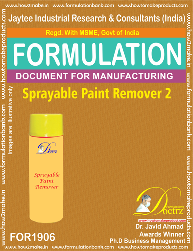 Spray-able paint remover 2 chemical formula (FOR1906 )