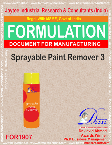Spray-able paint remover 3 chemical formula (FOR1907 )