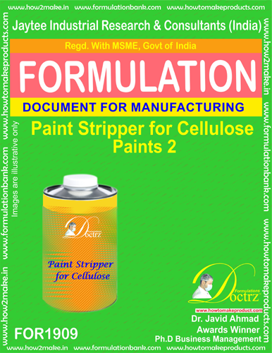 Paint stripper formula for cellulose paint 2(FOR 1909)