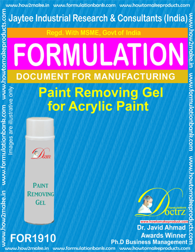 Paint remover Gel formula for Acrylic Paint remover(FOR 1910)
