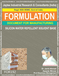 Silicon water repellent solvent base for concrete