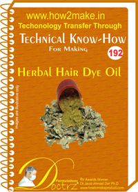 Technical Know-How For Herbal Hair Dye Oil (TNHR192)