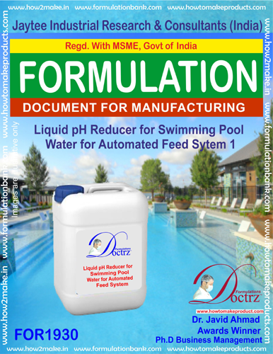 Liquid pH Reducer for swimming Pool Auto feed system1(FOR 1930)