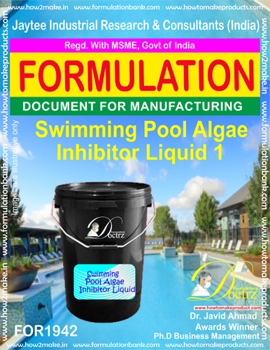 Swimming Pool Algae Inhibitor formula Liquid(FOR 1942)