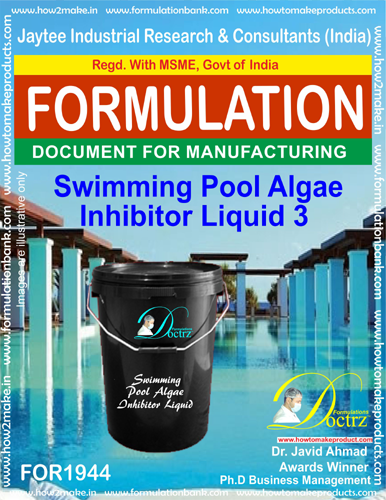 Swimming Pool Algae Inhibitor formula Liquid 3(FOR 1944)