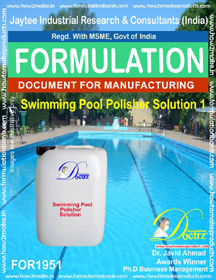 Swimming Pool Polisher solution formula 1(FOR 1951)