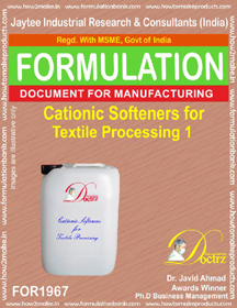Cationic softener compound for Textile 1 (FOR 1967)